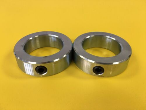 "2-1//4/"" Inch Solid Shaft Stop Collar 2pcs Set Screw Zinc Plated SC-225"