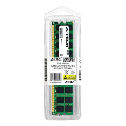 Memory RAM 2GB DDR2 PC2-5300 ECC UDIMM Kingston KVR667D2E5K2//4G Equivalent