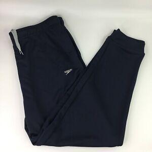 Speedo-MENS-XL-Jogger-Pants-Diving-Sweatpants-Navy-Blue-Free-shipping-NEW