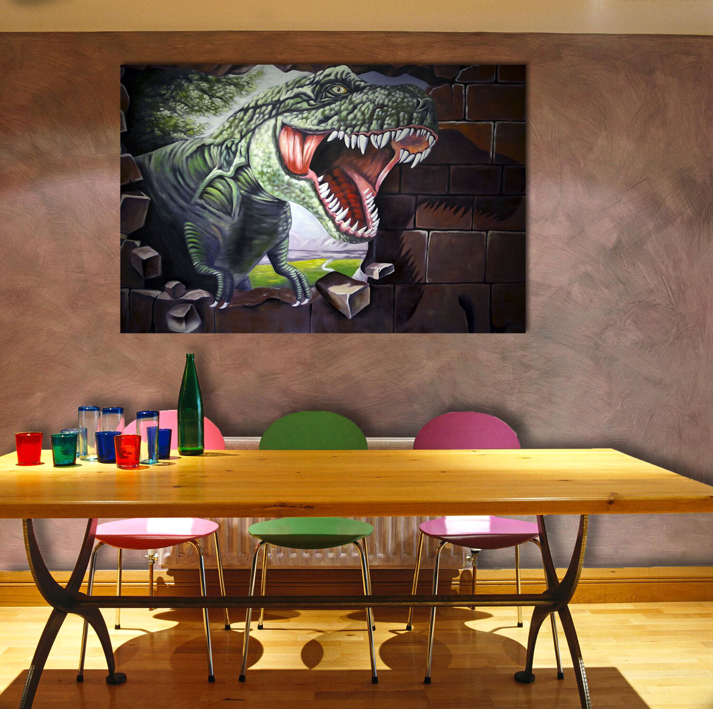 3D Tyrannosaurus Rex Wand 7433 Fototapeten Wandbild BildTapete AJSTORE DE Lemon