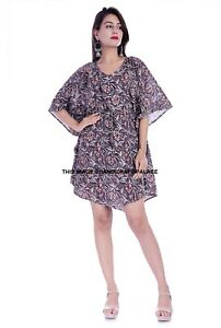 Women-Boho-V-Neck-Cotton-Maxi-Dress-Short-Sleeve-Casual-Kaftan-Tunic-Plus-Size