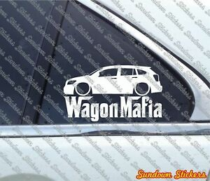 Lowered Wagon Mafia Sticker For Dodge Caliber Ebay