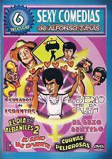ALFONSO ZAYAS 6 DVD PACK CURVAS PELIGROSAS DIA DE ALBANILES SEXO ME DIVIERTE