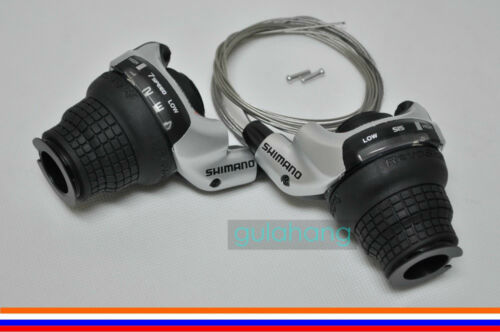 SHIMANO SL-RS41 SIS RevoShift 3 x 7-speed Grip Twist Shifter Set F/&R