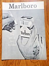1956 Marlboro Man Cigarette Ad  Lot to Like Filter Flavor Flip-Top Box Cowboy
