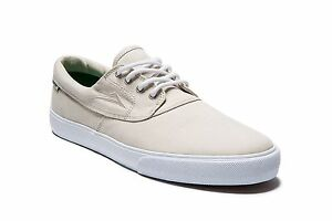 Lakai Camby Cream canvas Men s Skateboard sneaker trainers Size US9 ... aa4538d75