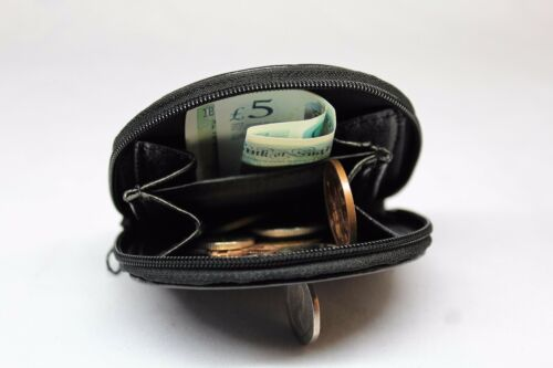 New Mens Ladies Womens Unisex Leather Coin Notes Change Purse Wallet