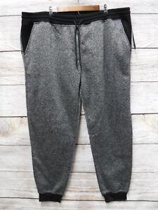 Southpole-Joggers-Mens-Size-6XB-Marled-Black-Fleece-Slim-Fit-Jogger-Pants-New