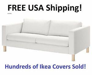 ikea karlstad 3 seat sofa cover slipcover blekinge white