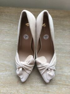 f4f4045a034 Details about Very Womens Shoes Heels Size 5 Beige 4.5 Inch Heel BNWT