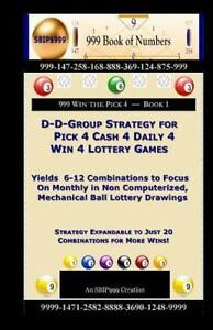 Details about D-d-group Strategy for Pick 4 Cash 4 Daily 4 Win 4 Lottery  Games : Yields 6-1