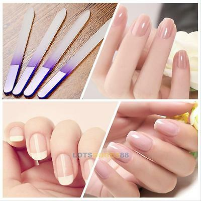 Pro 4pcs Durable Crystal Glass Nail File Buffer Art Files Manicure Device Tool#L