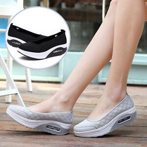 Women-Fashion-Air-cushion-Sneakers-Trainers-Creeper-Slip-on-Platform-Sport-Shoes
