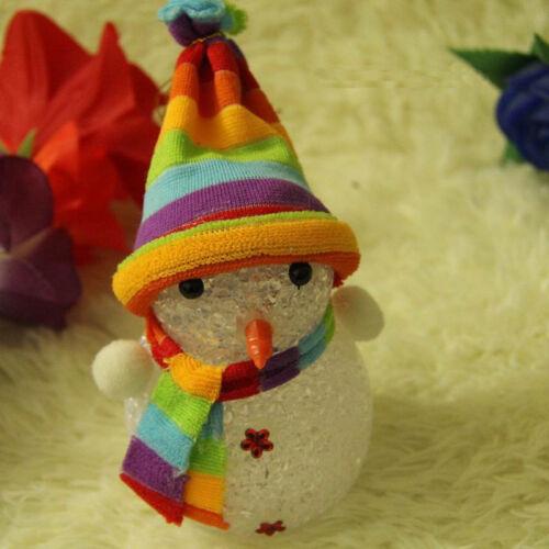 Xmas Gift LED Snowman Santa Claus Ornament Christmas Tree Light Hanging Decor FA