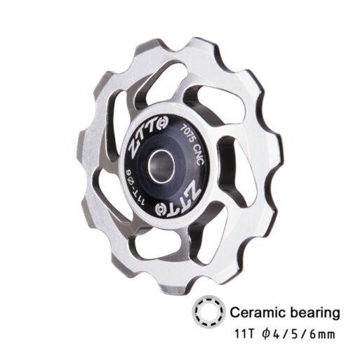 1pcs Bicycle 11T Rear Derailleur Jockey Wheel Bike Ceramic bearing Guide Roller