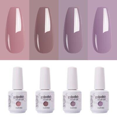Arte Clavo Soak Off Uv 4 Colors Set Nude Color Gelish Gel Nail Polish Gel Polish Ebay