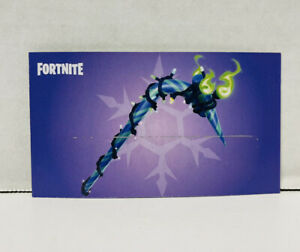 Fortnite Minty Pickaxe Card - Scratched and Used Code Fast Free Shipping