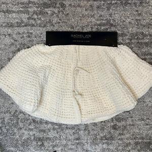 Rachel Zoe Christmas Tree Skirt Crochet Knit Ivory Faux