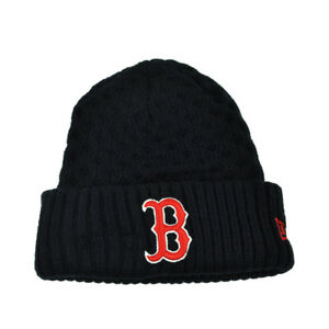 bca383ae1e MLB New Era Cuffed Cutie Boston Red Sox Crochet Womens Knit Beanie ...