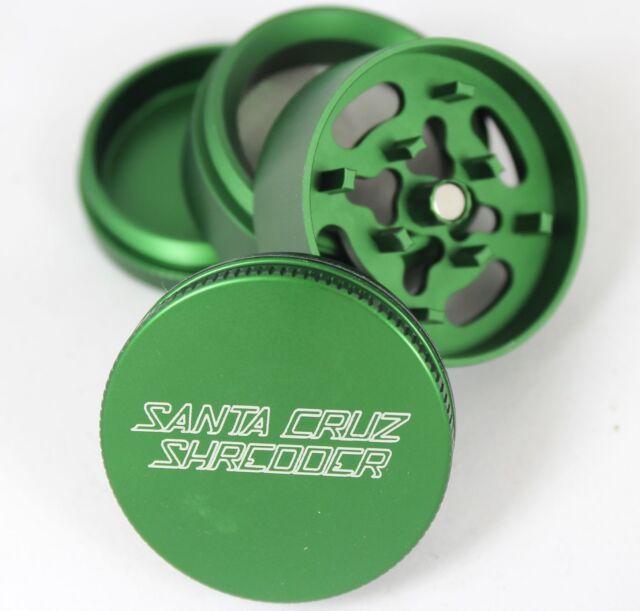 "Santa Cruz Shredder Herb & Tobacco Grinder Mini 1.6"" Inch 4 Piece Aluminum Green"