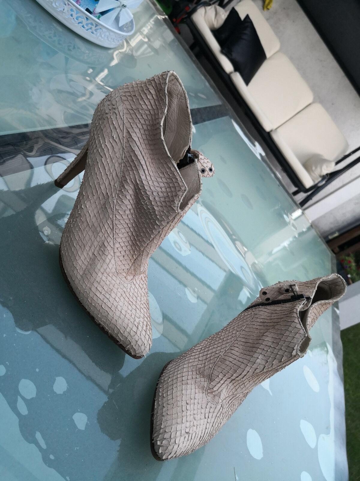 Envoie Strenesse chaussures femmes Escarpins Talons Hauts Soirée Chaussure Taille 37 Cuir Crème Top
