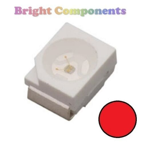 UK 10 x Red PLCC-2 LED SMD SMT 3528//1210 - Ultra Bright 1st CLASS POST