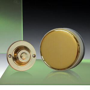 Wind-Up-Mechanical-Doorbell-Round-Brass-Push-Model-850R