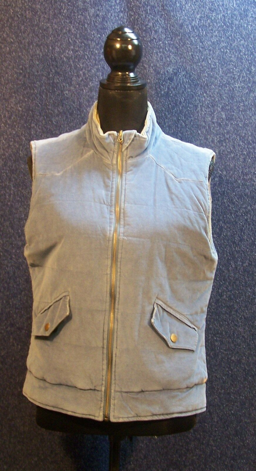 Gramicci Medium Corduroy Vest Reversible bluee & Beige