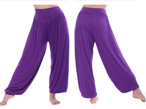 Damen Kinder Haremshose Pumphose Aladinhose Pluderhose Baggy Yoga Fitness Hose