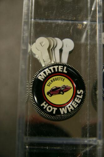 Silhouette  Metal hot Wheels Redline collector button