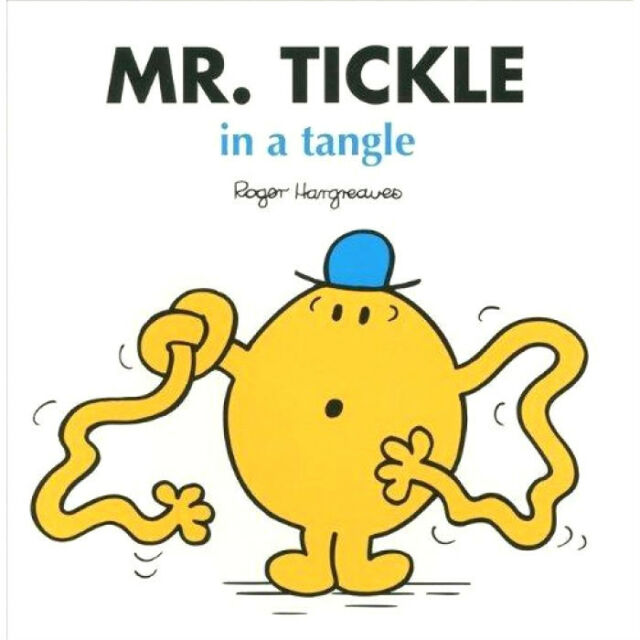Mr. Tickle in a tangle, By Roger Hargreaves - Mr Men Children's Book  FREE SHIP