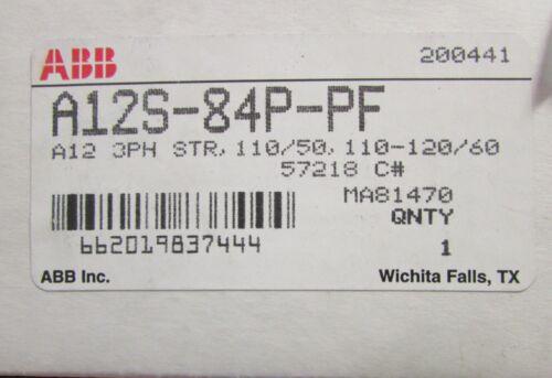 PF   110//120V 3 Phase Non Reversing Starter  A12S 84P PF ABB A12S 84P