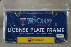 NEW-SEALED-License-plate-frame-Chrome-Plated-FCBarcelona-See-Pictures