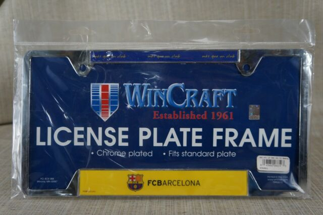 NEW SEALED License plate frame,Chrome Plated FCBarcelona See Pictures.