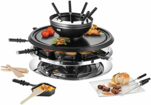 UNOLD Premium Elektro Multi Fondue Grill Raclette 4in1 48726