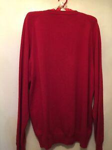 Elba Pure de Tasso L Suéter Gorgeous 100 Cashmere Cranberry Color para hombre pico Sz cuello con wdSBaRxnBq