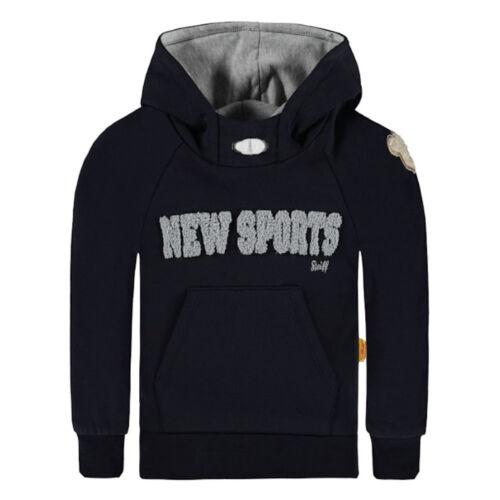 Steiff garçon sweat avec capuche Bleu New sports 6713453 pull NEUF