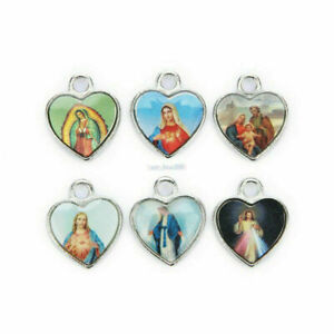 50Pcs-High-Quality-Catholic-Religious-Holy-Cross-Enamel-Medals-Charms-Pendants