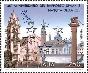 ITALIA-ITALY-1996-40-rapporto-SPAAK-CEE-EUROPA-Venezia-Messina-Stamp-MNH