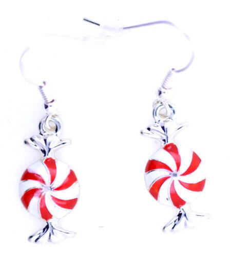 engrenage de Noël Windmill motif bonbons boucles d/'oreilles douces les engins