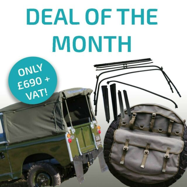 EXMOOR TRIM Land Rover Series 2 3 Defender Galvanised Canvas Hood Stick Clamp