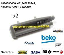 BEKO 1887460200 arret glissiere embout avant de rail lave vaisselle DFN1000