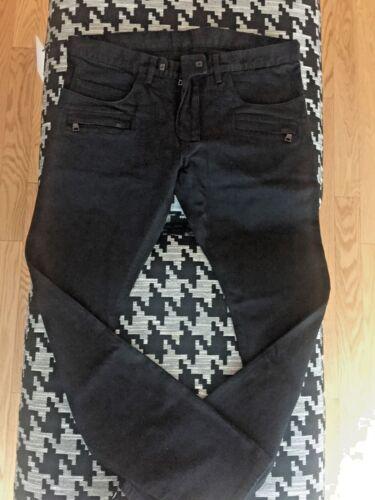 NWT $1055 BALMAIN Slim-Fit Cotton Black Biker Jean sizes 36 /& 38