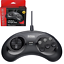 Retro-Bit-Official-Sega-Genesis-Controller-6-Button-Arcade-Pad-Black miniature 1