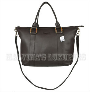 Image Is Loading Gucci Bag 339548 Dark Brown Leather Handbag Tote