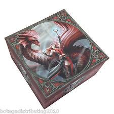 Scarlet Mage Box W/ Mirror Trinket Box Lisa Parker Collection Dragon Keeper
