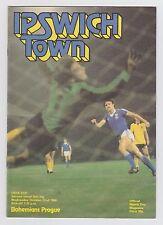 Orig.PRG   UEFA Cup 1980/81   IPSWICH TOWN - BOHEMIANS PRAG  !!  SELTEN