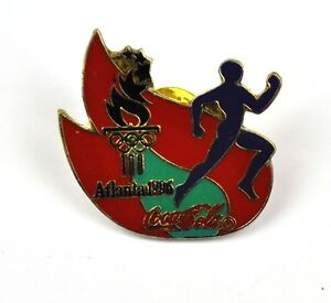 COCA-COLA-COKE-EE-UU-Solapa-Pin-PIN-BADGE-Broche-ATLANTA-1996-Corredores