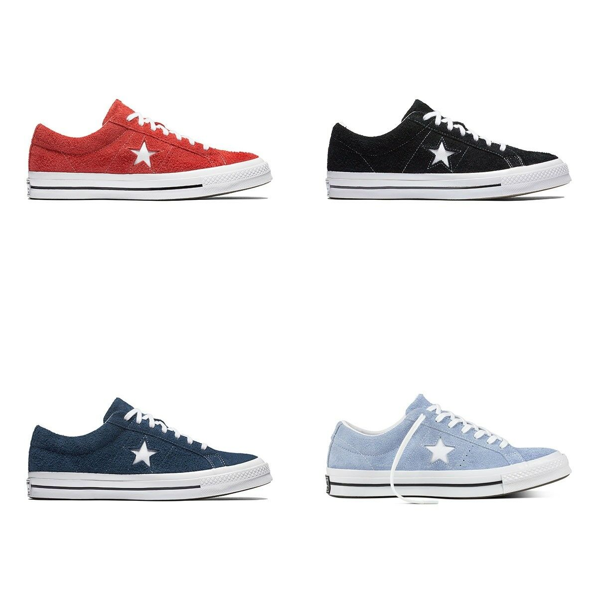 New Original Converse One Star OX  Suede Uomo Shoes All Sizes Colors NIB
