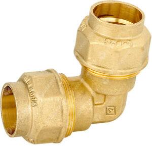 Ellbogen-Messing-32-x-32-Compression-Kreuzung-Geschwungene-X-Rohr-aus